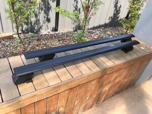 2x BLACK Roof rack / cross bar for  Peugeot 3008 wagon 2017-2021 on side rail