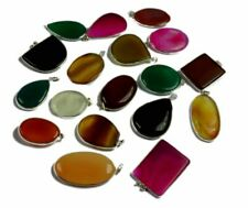 Lace Agate Gemstone 925 Sterling silver overlay lot Pendant 10 Pcs BNL-661