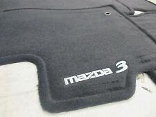 Mazda 3 2004-2009 New OEM Black Carpeted Set of 4 Floor Mats 0000-8B-L03B-02