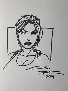 ANDY PARK ORIGINAL Lara Croft ( Tomb Raider ) Convention Sketch Signed