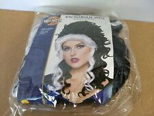 Victorian Black and White Wig, Historical Vampire Goth Curly Updo Rubie's 39349