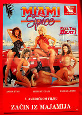 MIAMI SPICE 1980'S AMBER LYNN SHERI ST. CLAIR BARBARA DARE EXYU MOVIE POSTER