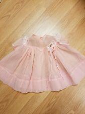 VINTAGE Girls Sheer Dress Pink Spring