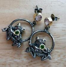Amethyst Sapphire Fine Earrings