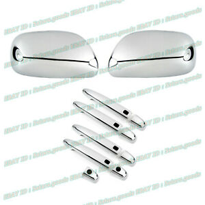 For 2006 Lexus GS300 Sedan Chrome Side Mirror + Smart Door Handle Covers Trims