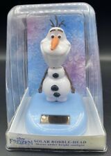 "DISNEY FROZEN OLAF SOLAR POWERED CHRISTMAS BOBBLE HEAD 5.5"" NEW IN BOX"