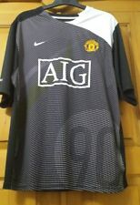NIKE MANCHESTER UNITED FOOTBALL Training Pre Match Shirt AIG Black -White  Large