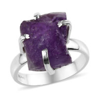925 Sterling Silver Amethyst Solitaire Ring Jewelry Gift for Women Size 8 Ct 8
