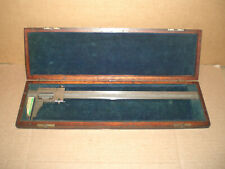 Brown And Sharpe 571 Vernier Caliper 13 With Wood Storage Case