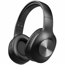 Headphones Bluetooth Over Ear Letscom 100 Hours Playtime Wireless Tv Hi Black