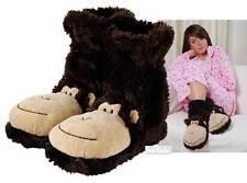 Aroma Home Fun For Feet MONKEY Slipper Socks Plush Fur Slipper Booties UK 3-7