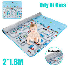 2 X1.8M Non-Slip Baby Carpet Game Mat Pad Crawling Baby Blanket Waterproof  Q
