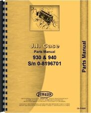 Case 930 940 Gas Diesel Tractor Parts Manual Catalog Prior To 8196701