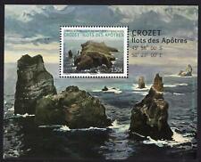 Französische Gebiete Antarktis TAAF postfrisch  2021 Block Felsen vor Crozet