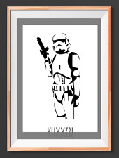 Star Trooper Star Wars A4  Mylar Reusable Stencil Airbrush Painting Art Craft