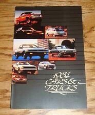 Original 1984 Toyota Car & Truck Full Line Sales Brochure 84 Camry Land Cruiser