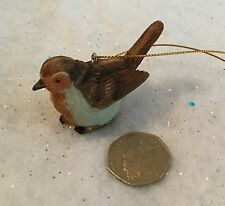 Resin Traditional Christmas Robin Decoration Vintage Tree Gisela Graham Bird