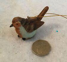 Résine décoration traditionnelle de Noël Robin Vintage GISELA GRAHAM Oiseau Arbre
