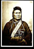 ⫸ 953 Postcard Chief Joseph Nez Perce Native American, Goff Photo 1877 - New