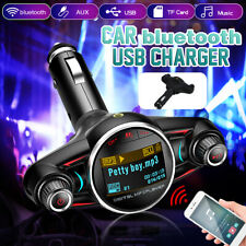 bluetooth Car Kit FM Transmitter MP3 Player USB Charger Wireless Handsfree TF