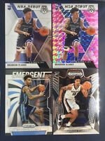 2019-20 Mosaic Brandon Clarke Pink Camo Prizm 4 Card Lot NBA Debut RC Grizzlies