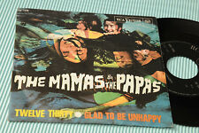 """MAMAS & PAPAS 7"""" TWELVE THIRTY ORIG ITALY '60 EX"""