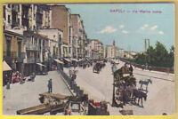 Old Postcard 1910 ca NAPOLI Via Marina Nuova ITALY Postal Cartolina ITALIA