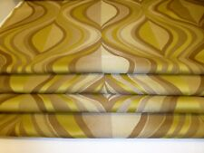 EASTERN DESIGN GREEN & BEIGE FABRIC BLACKOUT LINED BLIND MADE TO MEASURE.