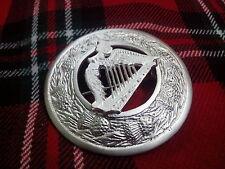 TC da uomo SPILLE patta Kilt a quadri arpa irlandese placcato argento/Celtic