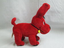 CLIFFORD 2000 SCHOLASTIC BIG RED DOG YELLOW BONE COLLAR PLUSH POSEABLE BENDABLE