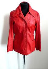 Vintage Lederjacke Rot Leder Jacke Leather jacket red Echtleder  S 70s 70er rot