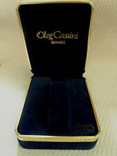 Oleg Cassini Watch Display Box GREAT FOR GIFT Brand New Blue Velvet!