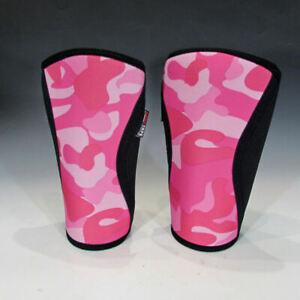 RockTape 7mm Knee Caps, Pair (Pink Camo, Medium) - Neoprene Sleeve / Support