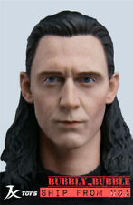 1/6 Loki Head Sculpt Avengers Tom Hiddleston For Hot Toys Worldbox Figure ☆USA☆