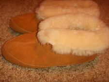 J Crew Lodge Moccasin Suede Booties Fur Cuff Womens Size 8