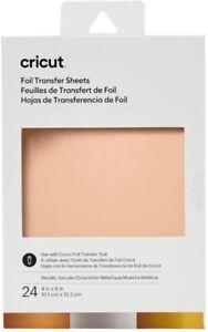 Cricut Foil Sampler Transfer Sheets METALLIC For Maker & Explore - 24 Sheets