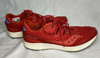 Women's Saucony Freedom ISO Everun Size 10.5 Running Athletic Shoes Red USA
