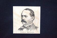 I nuovi Deputati del 1876: Cirillo Monzani Incisione del 1876