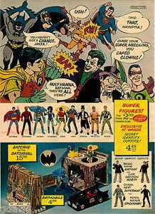 1974 PAPER AD 2 Pg Action Figures Super Heroes Mr Mxyzptlk Catwoman Spiderman