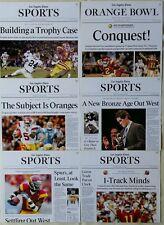 SET OF 6 - USC TROJANS FOOTBALL LA TIMES POSTERS - ORANGE BOWL, BUSH, LEINART
