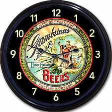 """Gambrinus Brewing Co Portland OR Beer Tray Wall Clock Ale Lager Brew Pub 10"""""""