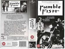 RUMBLE FISH VHS PAL MATT DILLON,MICKEY ROURKE,NICOLAS CAGE,DIANE LANE NEW 80S