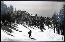 Franconia Notch NH ~ 1940's SKI SKIING ~ Start of Cannon Mountain Trail ~ RPPC