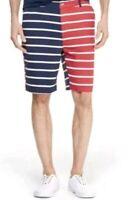 NWT Vineyard Vines Target Men's Striped Red/Navy Shorts W/Pockets! Size 34