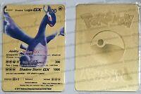 Shadow Lugia GX Metal Replica Pokemon Card TCG