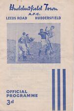 Huddersfield TOWN V Burnley ~ 4 DICEMBRE 1954 PROGRAMMA CALCIO
