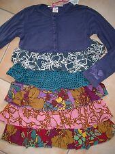 (854) Süßes Nolita Pocket Girls Materialmix Kleid + Volants & Logo Druck gr.104