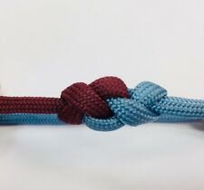 Claret And Blue Adjustable Wristband Paracord Claret Blue