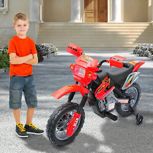Aosom 6V Electric Kids Ride-On Motorcycle Powered Dirt Bike Battery Scooter Red