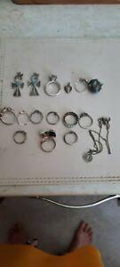 job lot sterling silver jewellery SCRAP OR REPAIR